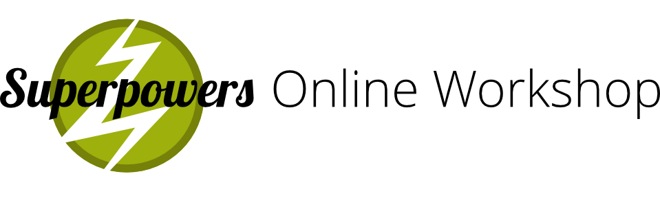 Superpowers Online Workshop Logo